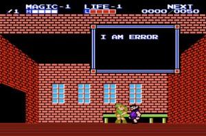I am error message from Zelda 2