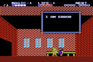 I am error message from Zelda 2