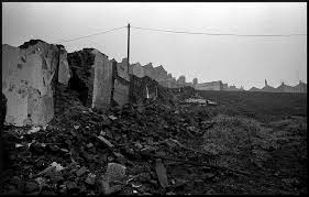 Crumbled buildings and desolation