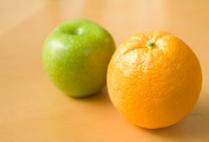 Apple and an orange
