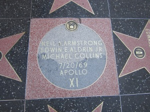 Plaque with the names of the Apollo 11 astronauts