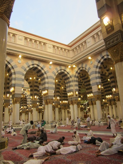 Open roof prayer space in Masjid Nabawi