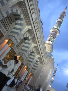 Masjib An-Nabawi at night