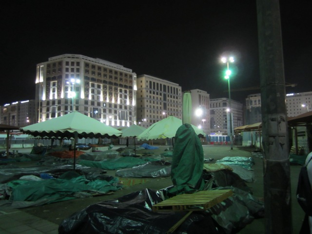 Medina Marketplace at night