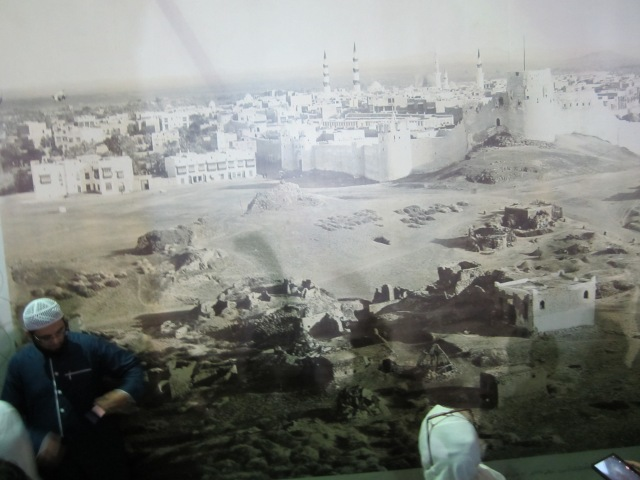 Wall-sized mural of the oldest photo of Medina