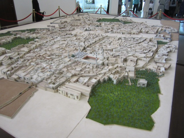 A scale model of Medina as it used to be