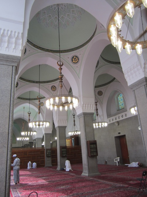 Prayer area in Masjid Quba