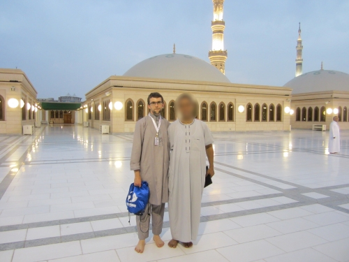 On the rooft of Masjid An-Nabawi
