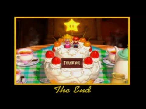 Super Mario 64 ending screen, with a cake!
